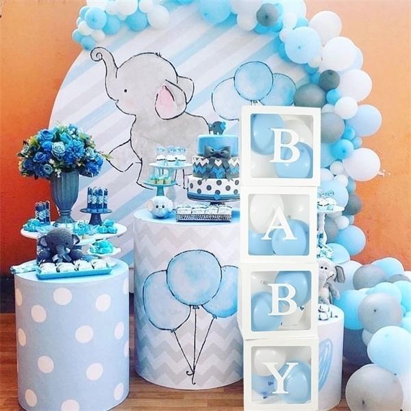 Transparent Ballon-Dekorationen für Kinder Babyparty-Jungen-Mädchen-Geschenke Hochzeitsdeko Aufbewahrungsbox