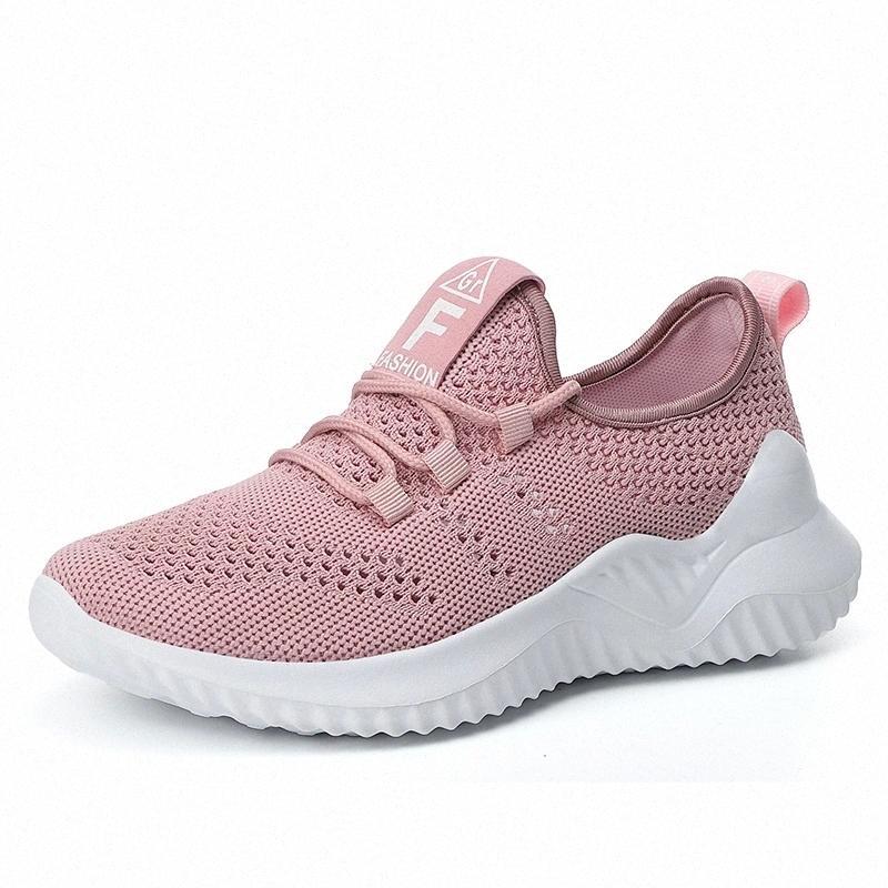 Mailles respirantes femmes chaussures slip-up amortisseur athlétique de jogging athlétique clairse-up light-up sneakers # nq7a