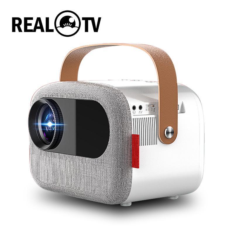 TV real M16 LCD projetor 1080p 4500 lumens cinema proyector Beamer VGA AV USB