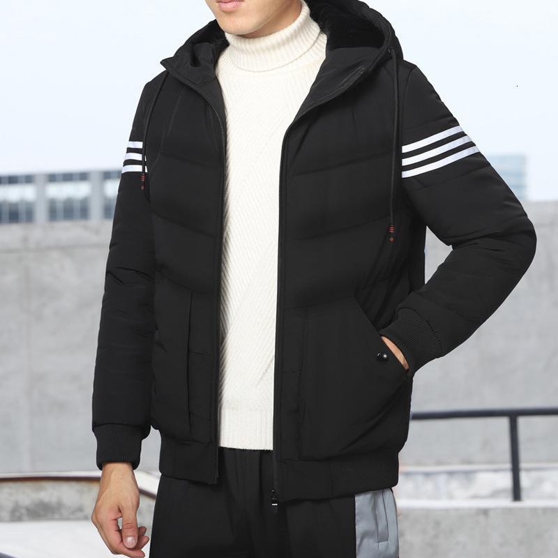 2020 Утолщенная осень и зима Новый модный бренд спортивный хлопок мягкая прогревная куртка мужская пальто
