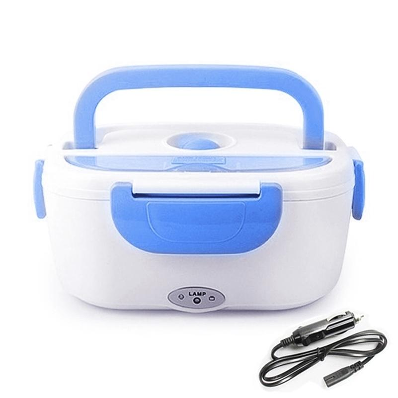 AHTOSKA Portable1.05L12v/220V Electric Heating Lunch Box Car Plug Food Warmer Bento For School Office Home Plastic Dinnerware 201120