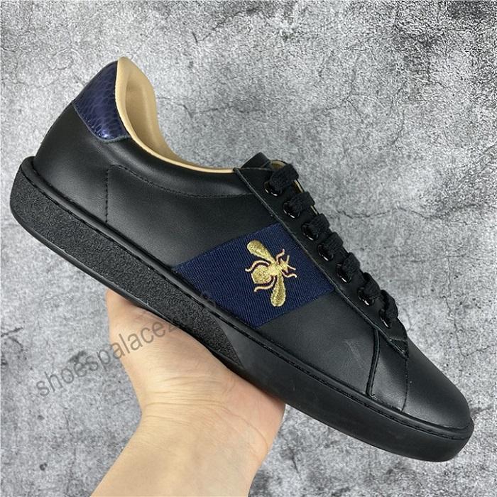 Neue Ankunft Mode Männer Frauen Freizeitschuhe Italien Trendy Turnschuhe Schuhe Top Qualität Echtes Leder Biene Gestickte Schwarze Tiger Chaussures