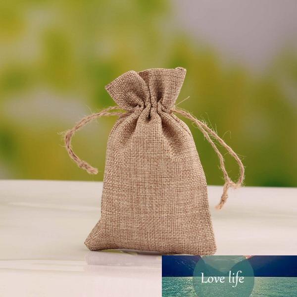 Vente en gros-bijoux Pouches velours Sacs cadeaux Sacs en toile de jute pour cordon de serrage Faveurs de mariage Party (plus de couleurs)