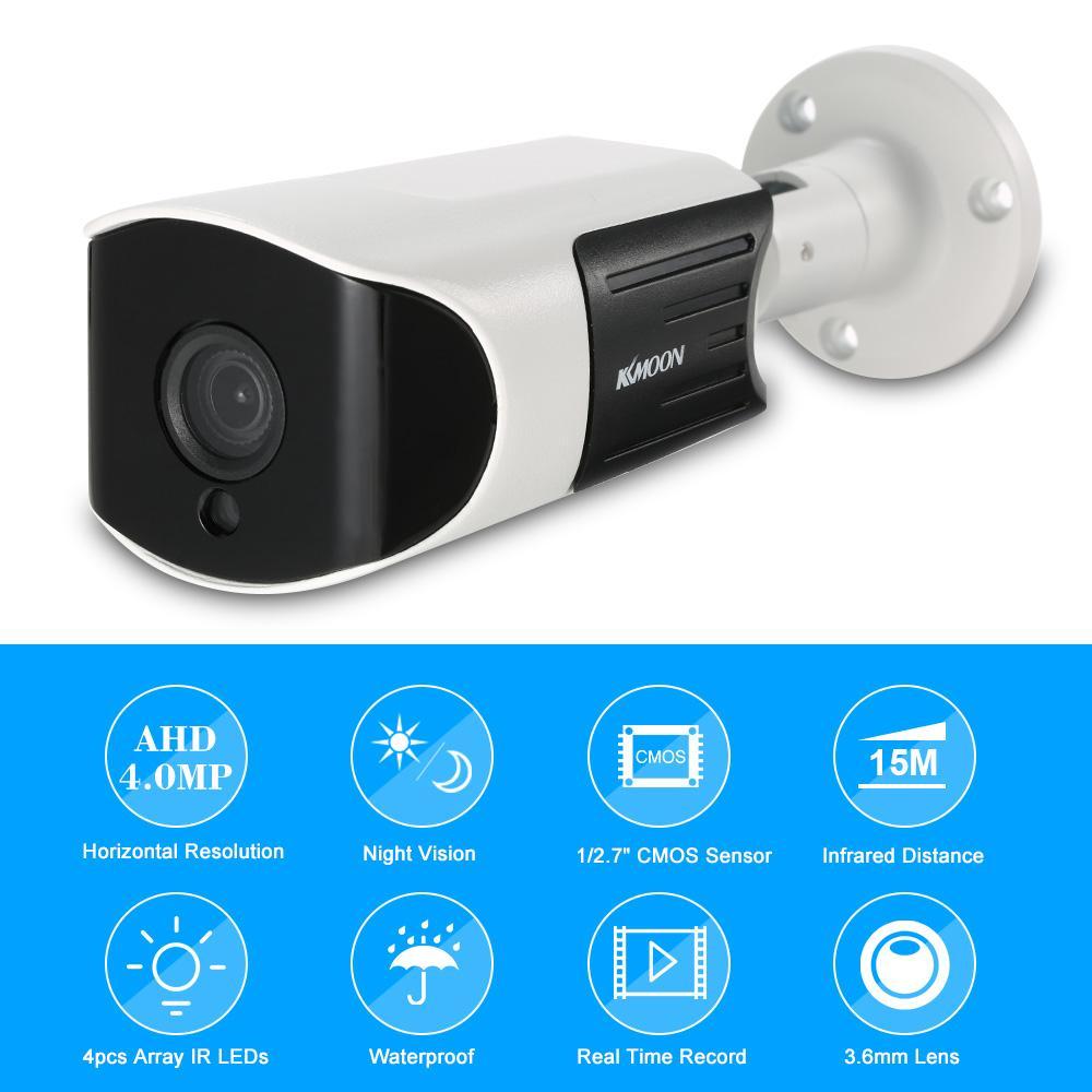 4.0MP Full HD CCTV камеры безопасности АХД камеру 4шт массив ИК лампы ночного видения Открытый Водонепроницаемая камера наблюдения