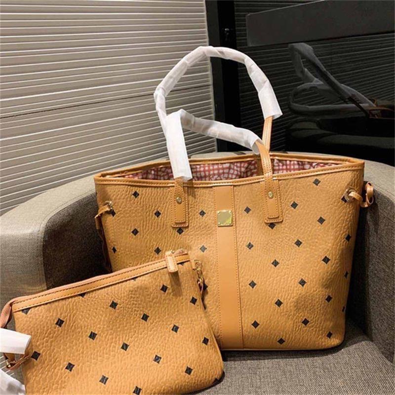 Rosa Sugao Stil Designer Dame Tote Damen Schultertaschen Hohe Qualität Leder Einkaufstasche Mode Frauen Geldbörse Große Handtaschen 2 teile / satz