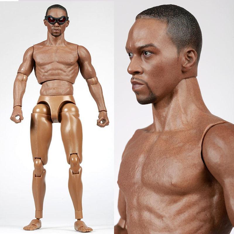 """1 / 6th Man S006 Masculino Black Boy Modelo Corpo Toy Figura Militar peito musculoso Semelhante ao TTM19 Para 12"""" Soldados Action Figure Chefe 1008"""