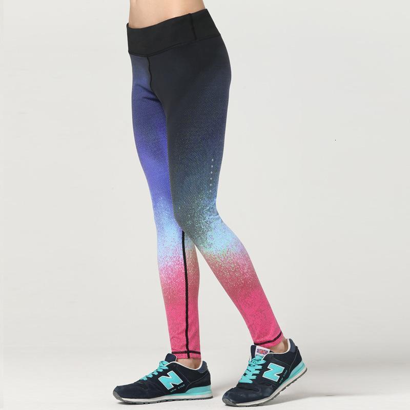 Primavera y verano 2020 Leggings para mujer Correr Medias de aptitud Gradiente Yoga Secado rápido Pantalones deportivos