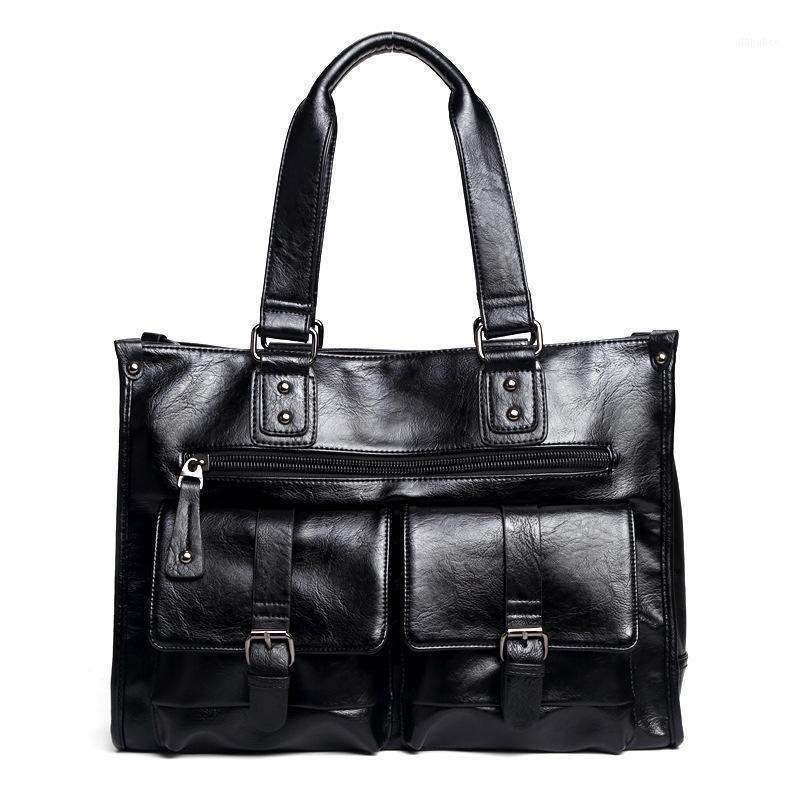 Männer Business Bag für Männer Multifunktionshandtasche Marke PU Leder Reise Einkaufstasche Männlich Große Kapazität Laptoptasche1