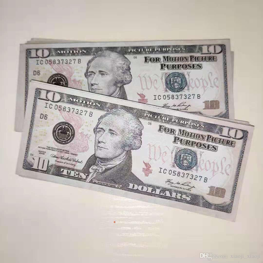 Party money regali Giochi Collezione Dollaro Banconota da 10 dollari PROP FAKE GRASSE BAR PROP Movie Sales US Hot 38 GVURRUR