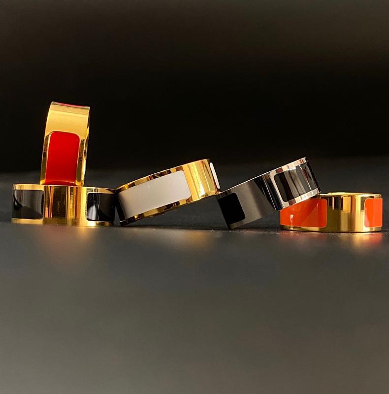 للجنسين 316l التيتانيوم الصلب الأزياء الدائري للرجل النساء الساخن بيع حلقات الرجال امرأة مجوهرات هدايا الاكسسوارات المألوف