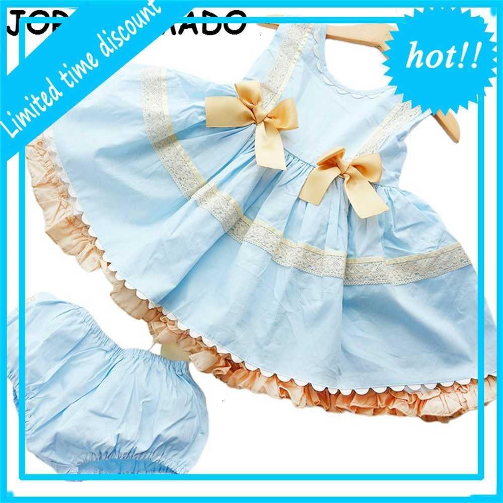 Платье вечеринка Испанский стиль детей для банка без рукавов принцесса девушки платья детская одежда E19237