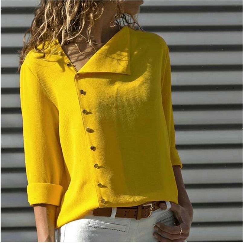Frauen Bluse Hemd 2021 Herbst Büro Damen Blusen Langarm Womens Tops und Blusen Arbeit Top Weibliche Blusa Plus Größe