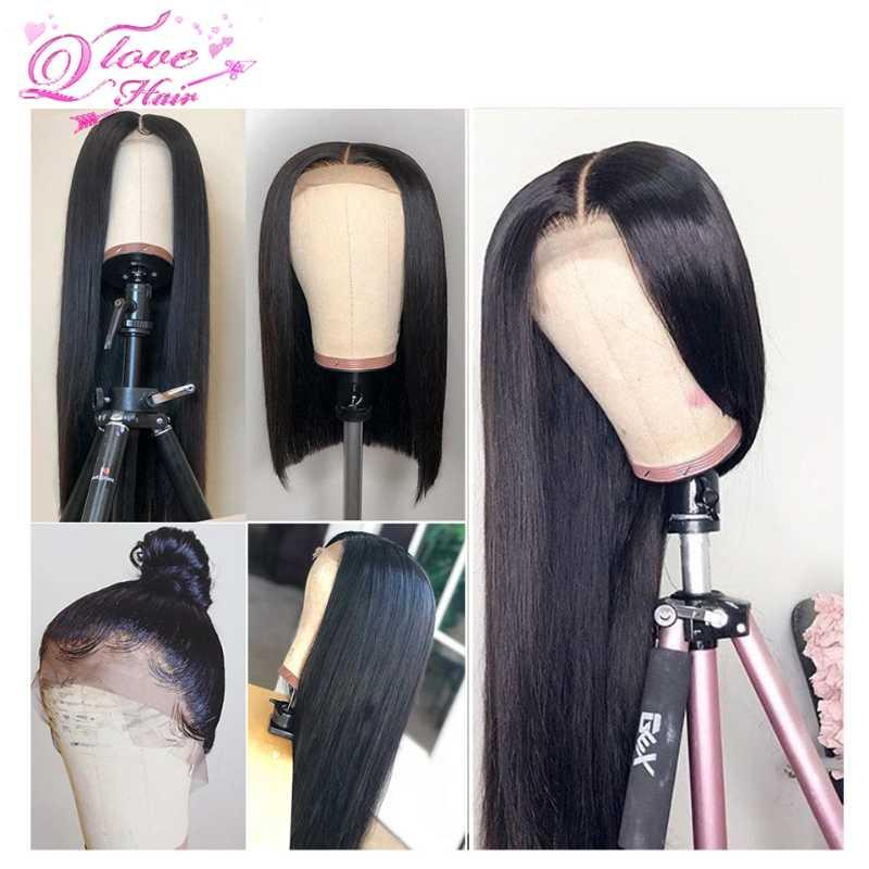 13x4 Lace Front Wig 100% Brazilian Human Hair Wigs Lace Frontal Stiaight Wave Remy Hair 150% density Pre Plucked Wigs