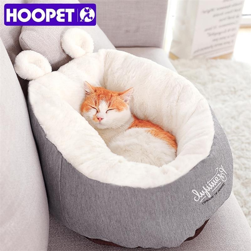 HOOPET PET القط الكلب السرير الاحترار الكلب المنزل المواد النائية حقيبة الحيوانات الأليفة وسادة جرو بيت الكلب LJ200918
