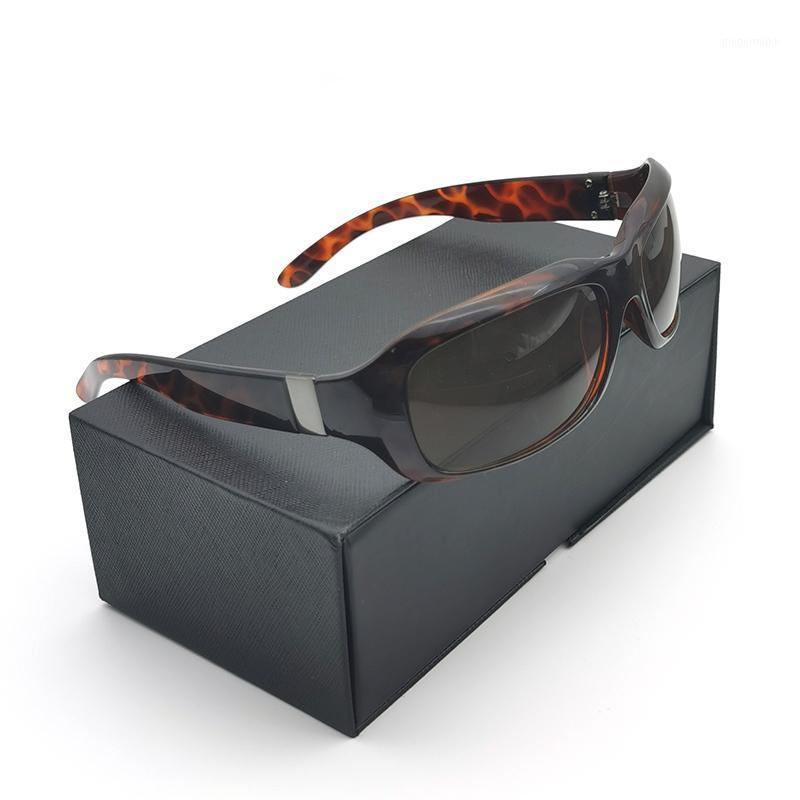 Occhiali da sole Vazrobe Donne maschile stretto 130mm Leopard Brown Occhiali da sole per 2021 rettangolo vintage1
