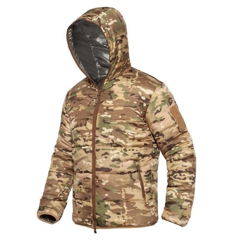 الرجال الشتاء الحرارية جاكيتات في الهواء الطلق الرياضة مقنع معاطف يندبروف واقية الدافئة التمويه سترة المشي لمسافات طويلة الملابس