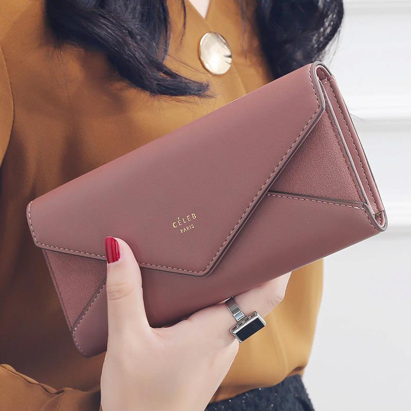 Hohe Qualität 3 Falten Frauen Brieftasche Marke PU Leder Lange Geldbörse Kupplung Münze Geldbörse Telefon Pocket Kartenhalter Große Kapazität