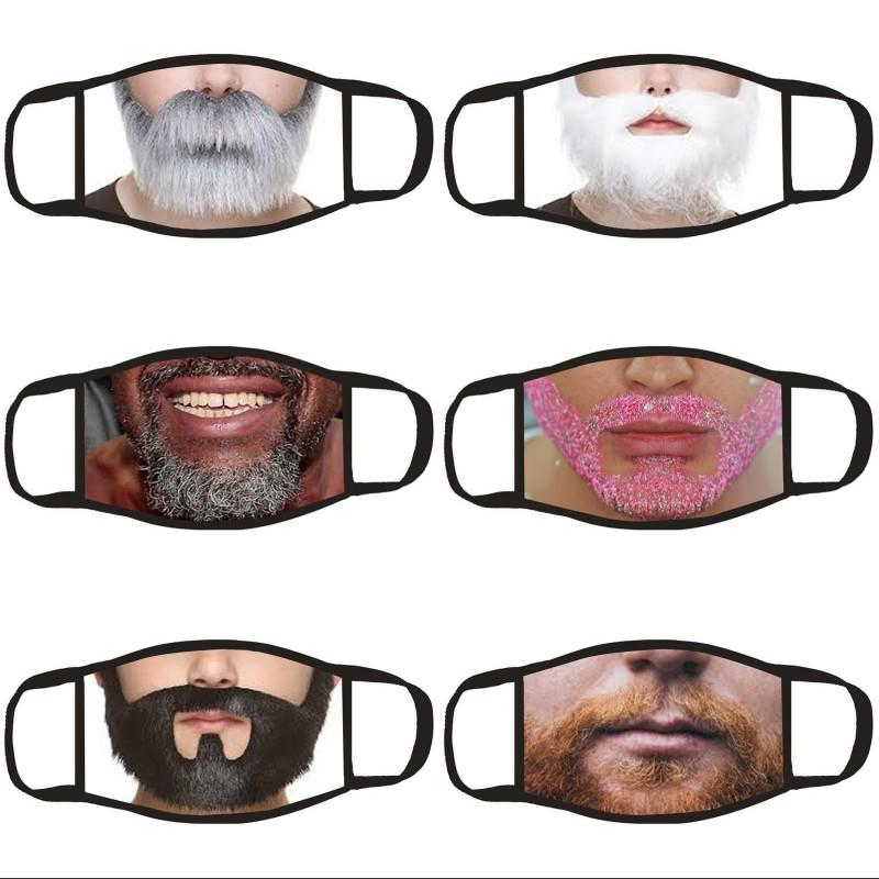 Funny Beard Face Mask Cloth Dustproof Protective Earloop Hanging Man Mascherine Respirable Foldable Adult Mouth Masks 3 9dga G2