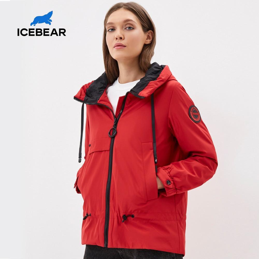 IceBear-Frauen Mantel mit einer Haube stilvolle lässige Frauenjacke Frauen Frühlingskleidung Marke Kleidung GWC2023D 201027