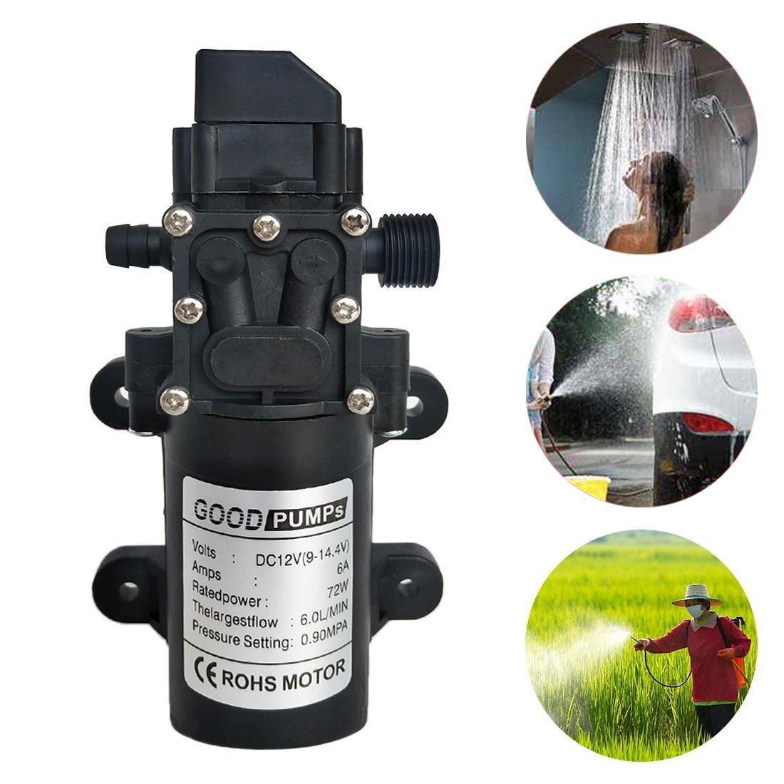 12V 72W bomba de autoceba de autoservicio lavado de automóviles de alta presión Diafragma inteligente de la bomba de agua de derecha
