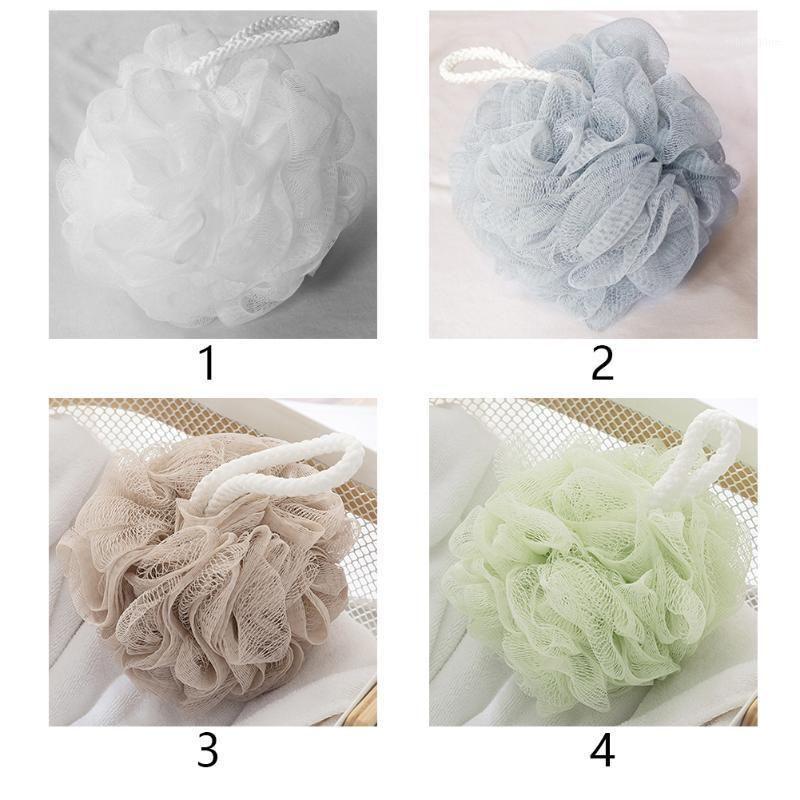 PE pendurado corda chuveiro esponja bola de banho macio malha rica bolhas ricas esfoliar a pele de lavagem1