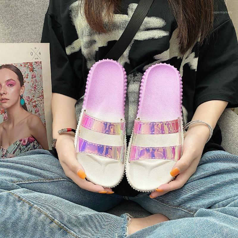 Mulheres Verão Outdoor Chinelos Estilo de Moda 2020 Nova Moda All-Match Mulheres Magic Color Sandálias Paralelas Zapatos Mujer1