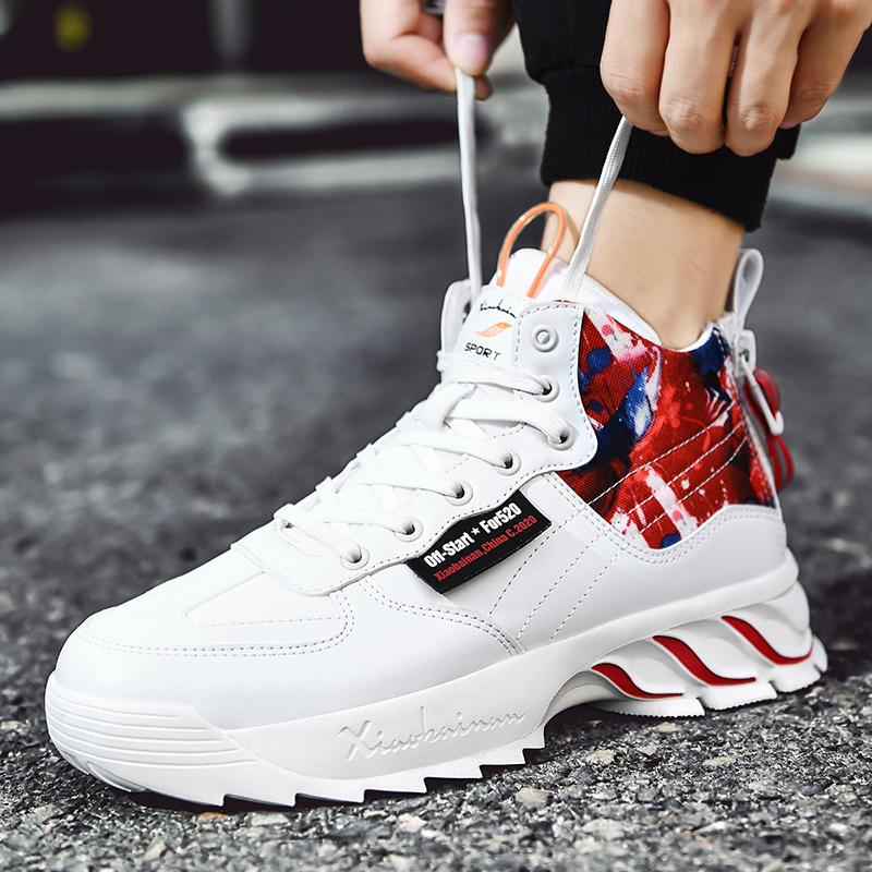 De alta calidad Además de terciopelo moda pequeñas zapatillas de tenis de alta calidad de los hombres blancos