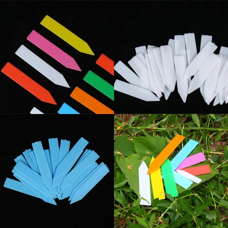 Plant Tags Marker Plastic Rectangle Thickening Label Flowers Plants Garden Card Insertion Waterproof Gardening Polychromatic 0 04fy G2