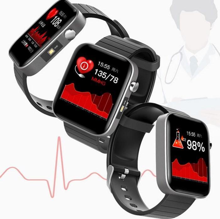 Hombres Mujeres Smart Watch Cuerpo Temperatura Medida CARACTERÍSTICO Presión arterial Monitor SmartWatch Nueva actualización para iOS Android