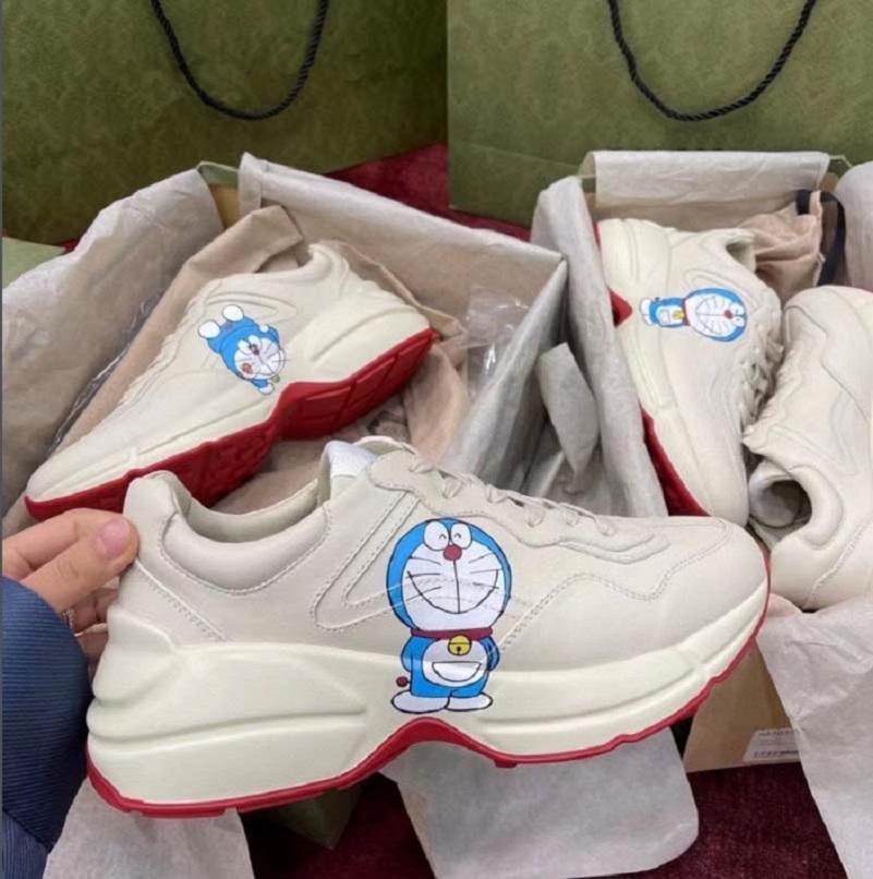 Sneaker en cuir de qualité supérieure Sneaker Hommes Femmes Chaussures avec Strawberry Wave Bouche Tiger Tiger Imprimer Trainer Vintage Trainer Soin Casual Chaussures Home011 03