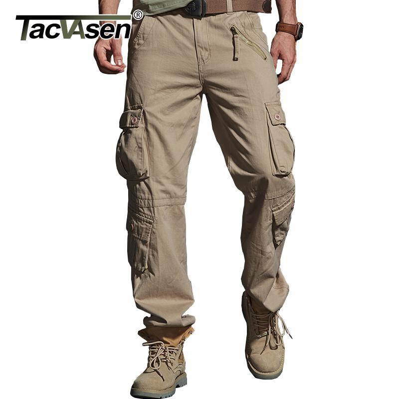Tacvasen Tactical Cargo брюки мужские хлопковые мультимакроны военные брюки повседневная прямая армия работа длинные брюки 28-40 большой размер X1218