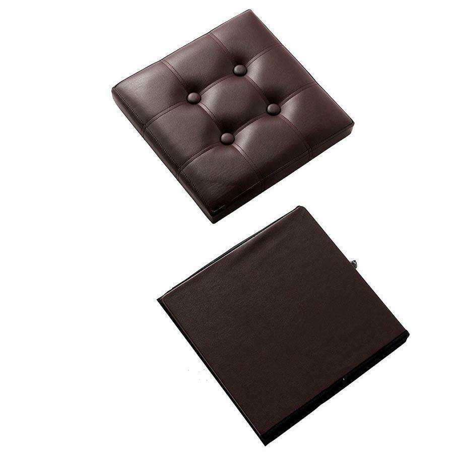 """Pliable Faux cuir Pouf de rangement carré Cube Repose-pied Tabouret / Siège -15 x 15"""""""