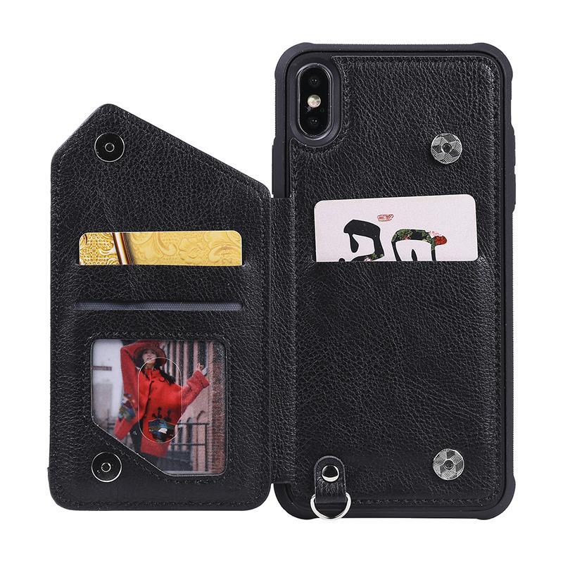Caja del teléfono de la cartera con cremallera para iPhone12PRO MAX 11PRO XS 7 8 PLUS CUBIERTA DE LA BURENA PARA IPHONE XR Alta calidad