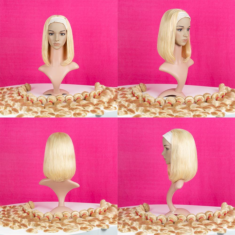 Breve pelucas del cordón Bob brasileña 613 # color sin pelucas de cordón del pelo humano para las mujeres Remy peruano pelucas de pelo humano recto
