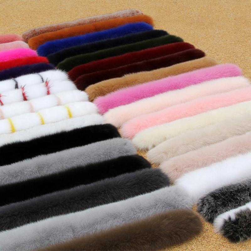 Mulheres Winter 100% real Fox Fur colarinho Scarf Fur Coat Collar Luxo Fox Fur cachecóis Quente Genuine pescoço aquecedores Xaile 201113