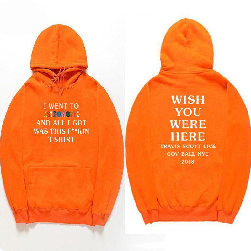 Fashion Astroworld Travis Scott Uomo e donna con cappuccio con cappuccio con cappuccio Cappuccio Casual Hoodie Hip Hop Streetwear Manica lunga Designer Designer Felpe con cappuccio 5s