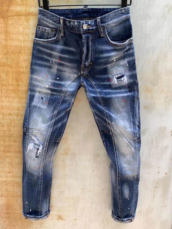 Modischen europäischen und amerikanischen Männer Casual Jeans im Jahr 2020, hochwertige gewaschen, von Hand getragen wird, fest und riss Motorrad Jeans LT131