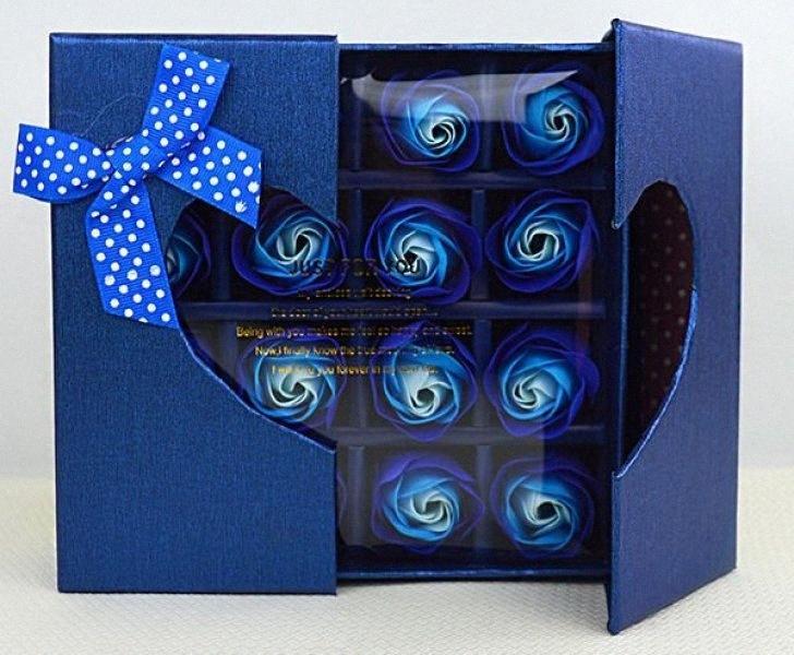 30box Rose Petal Ванна Мыло с Валентина Новый Романтический Подарочная коробка Сделано вручную для рождественских подарков ручной работы венчания гавайский m7i1 #