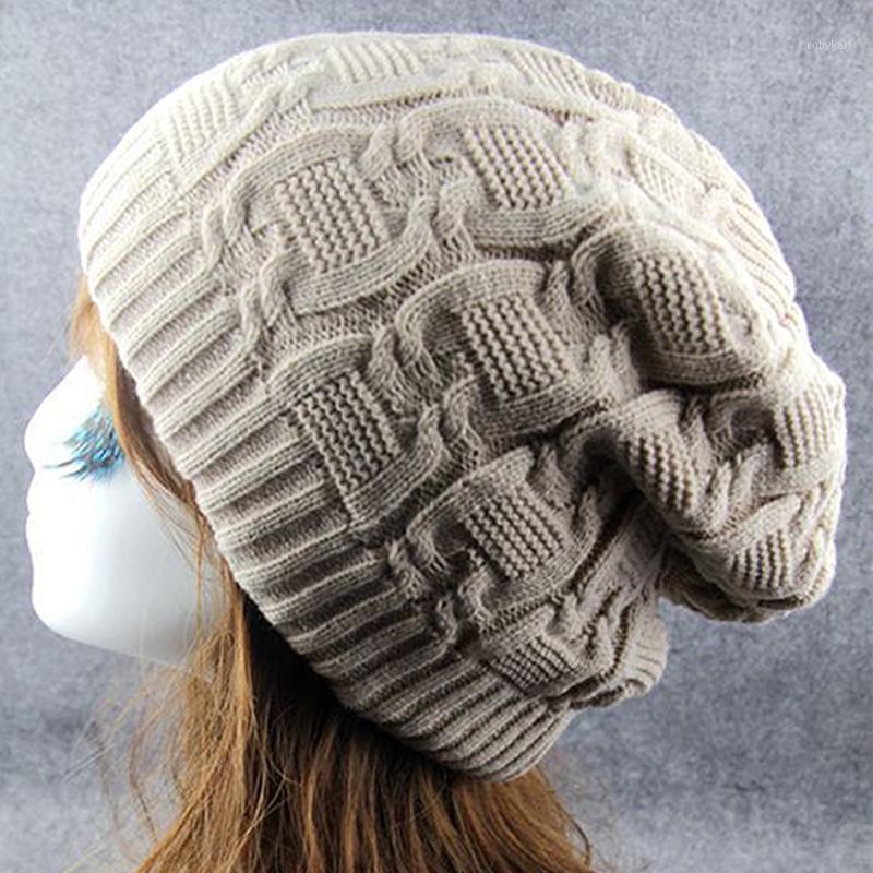 Womens lavorato a maglia berretto a maglia inverno caldo inverno regali di natale regali di caramella colore cappello a pieghe elasticizzato vintage womens hats1
