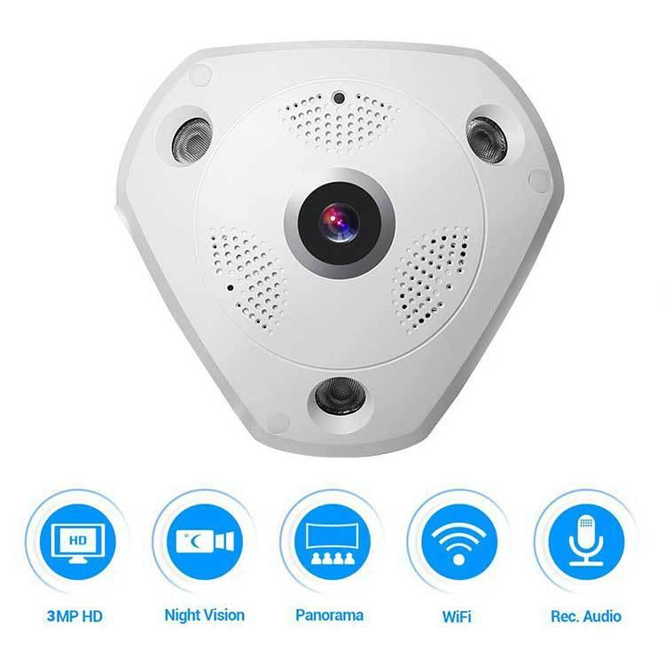 Security Surveillance 360 Degree Panoramic Camera Wireless Wifi Network Camera Fisheye Mobile Phone Remote Surveillance Multi-function