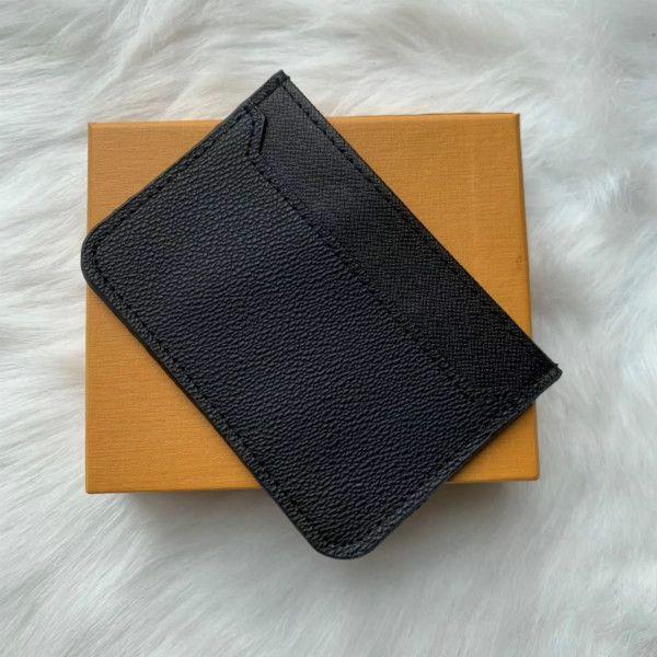 مصمم حامل بطاقة الرجال حاملي بطاقات المرأة السوداء الخراف الأسود محافظ عملة محفظة جيب الفتحة الداخلية جيب جلد طبيعي كاميليا
