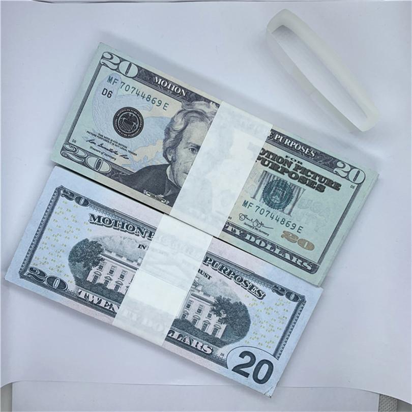 Film Party Magic accessoires Tirant des billets de banque contrefaites Monnaie américaine 1 Dollar de papier non marqué Devise Copier papier Monnaie D20-6