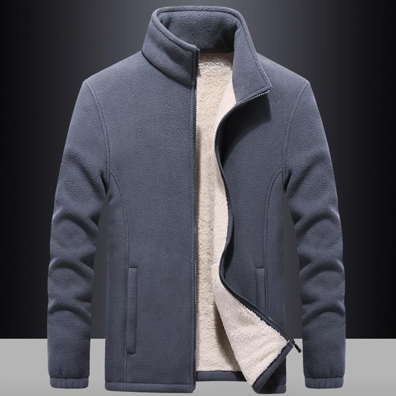 Erkek Rüzgarlık Kalın Polar Ceketler Dış Giyim Spor 7XL 8XL 9XL Yün Liner Hoody Sıcak Hoodies Termal Ceket Tişörtü Erkekler