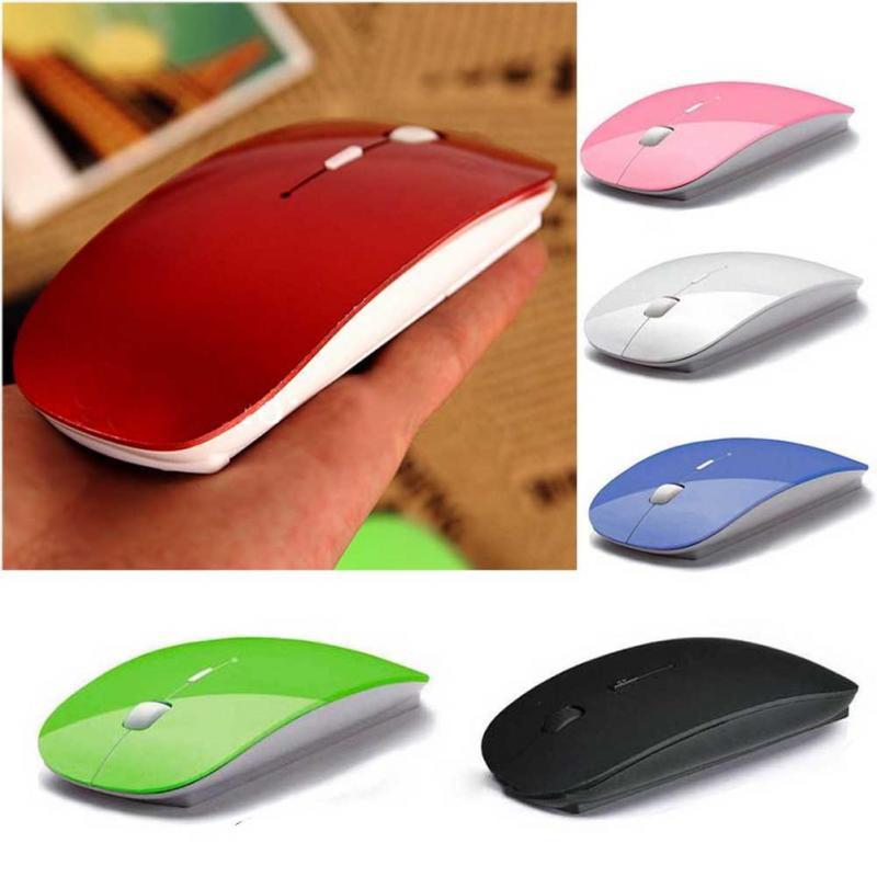 Ultra Thin 2.4G Souris optique sans fil USB Récepteur Air Mouse 1200dpi pour ordinateur portable