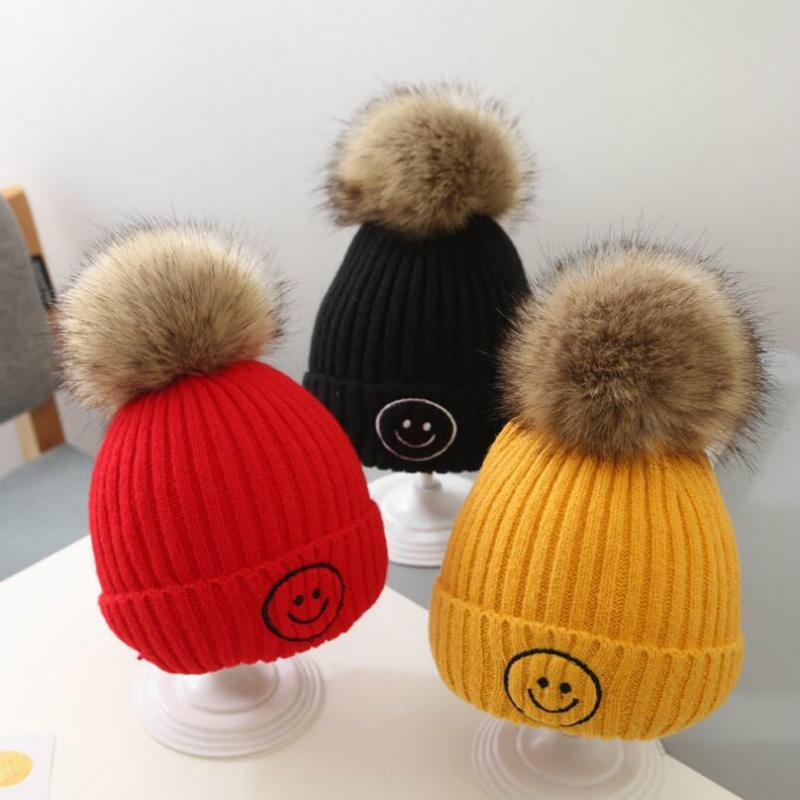 Nouveau bébé Tout-petit bébé garçon hiver chaud chapeau chaud tricot de laine couverture enfants au chaud Tricoté Woollen Hat Accessoires enfants