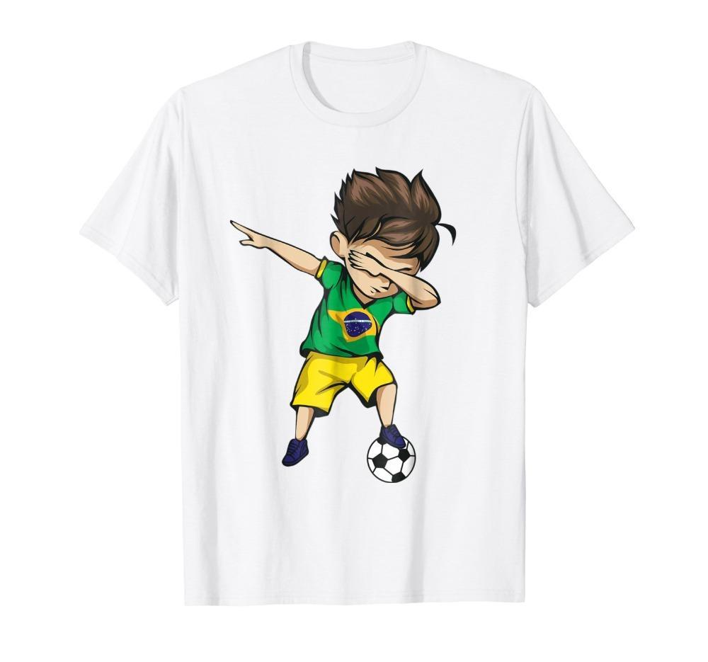 Moda Uomo rude Tee girocollo tamponando Soccers Boy Brasile Jersey brasiliano calciatore stampa Felpa con cappuccio degli uomini della maglietta