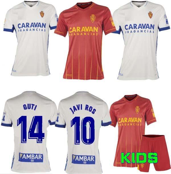 Tailândia 20 21 Real Zaragoza Soccer Jersey 2020 2021 Shinji Kagawa André Pereira Alberto Camisetas de Futbol Man Kids Set Football Shirts