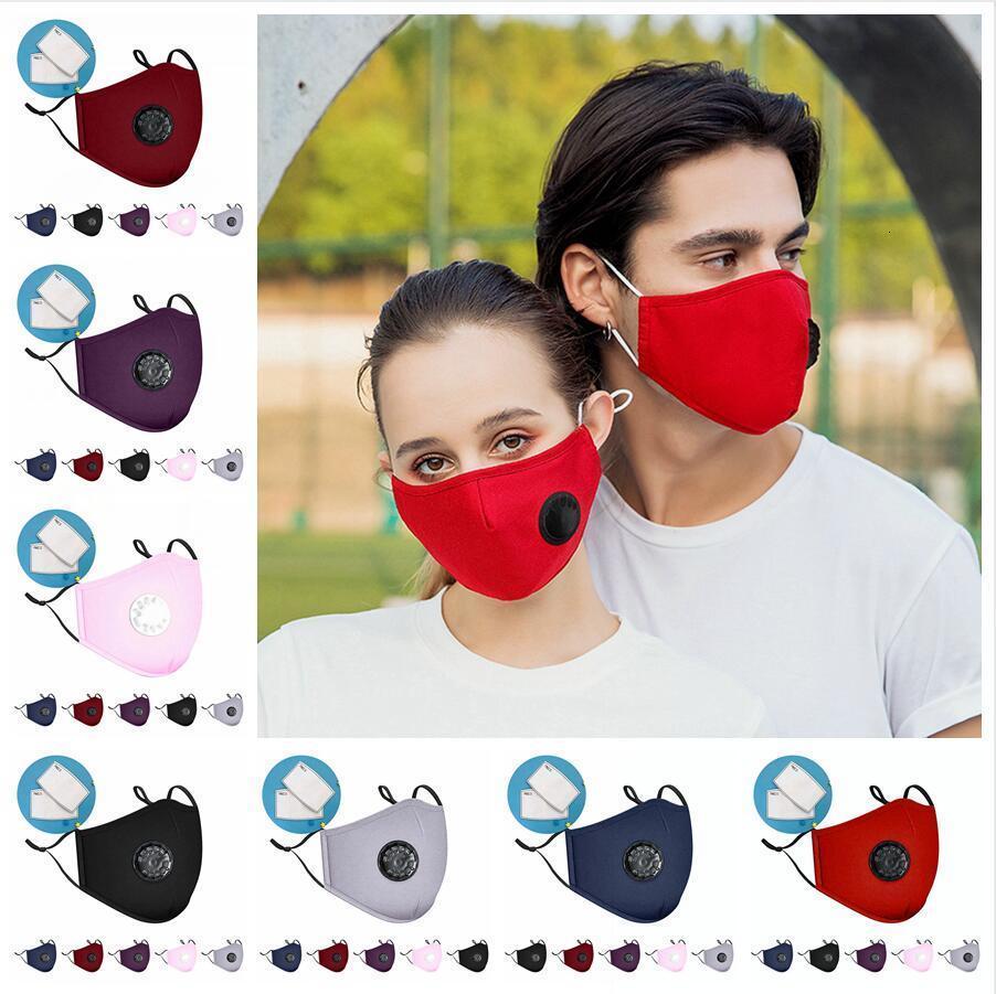 avec le visage adulte souffle coton Valve anti-poussière brouillard PM2,5 bouche lavable réutilisable filtre Masques Dda4171KC2