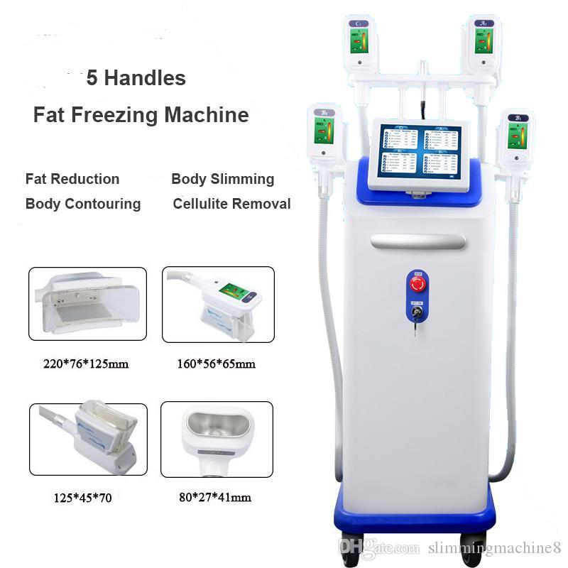 Cryolipolysis Lipofreeze Cryo Lipo Fat Freeze Minceur Machine Nouveau Vacuum Minceur Machine avec 5 poignées Cryo