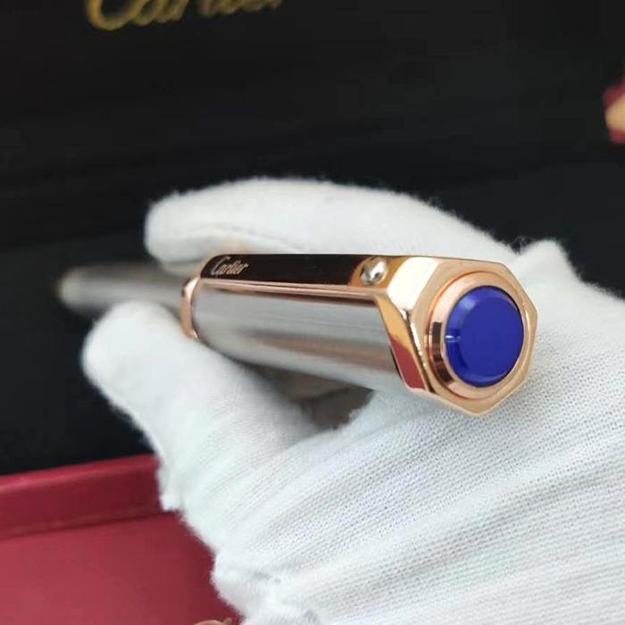 2020 nuevo de alta calidad de las plumas de lujo de metal inoxidable liso metal pluma de lujo caja de la pluma y el Manual de la tapa de la pluma con la piedra preciosa